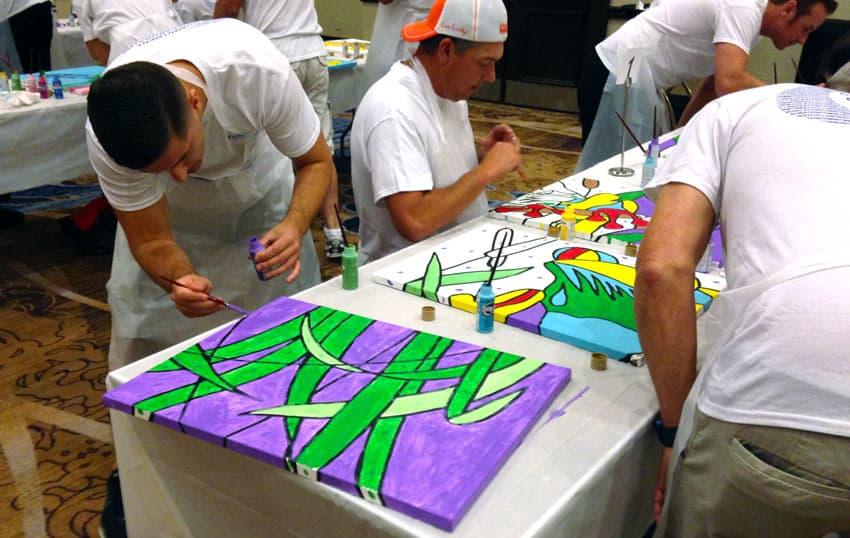 hospital art company charity event