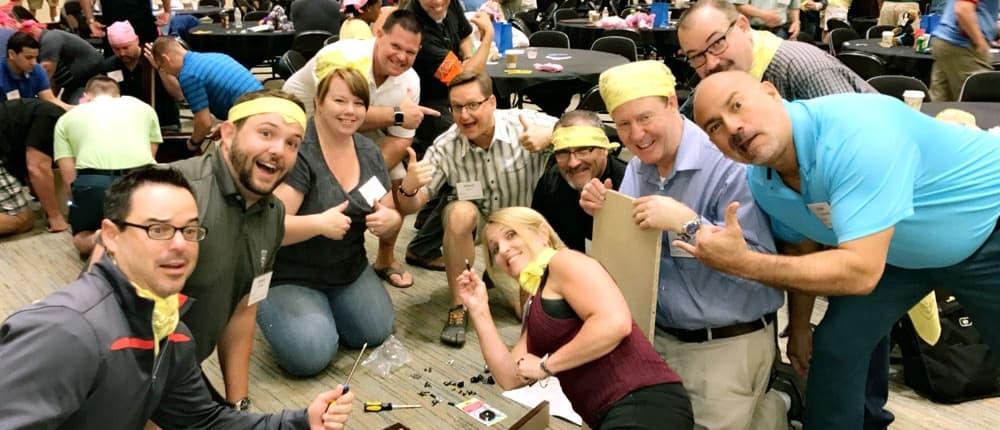 indoor charity team bonding