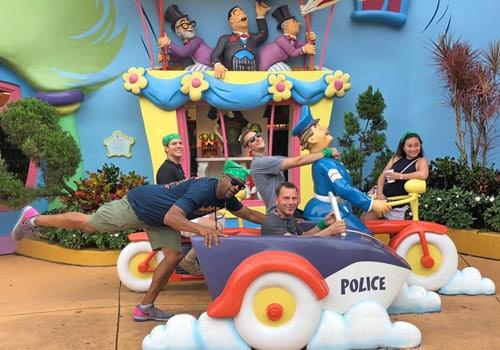 theme park team event
